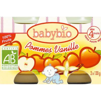 BIO Pommes vanille dès 4 mois BABYBIO
