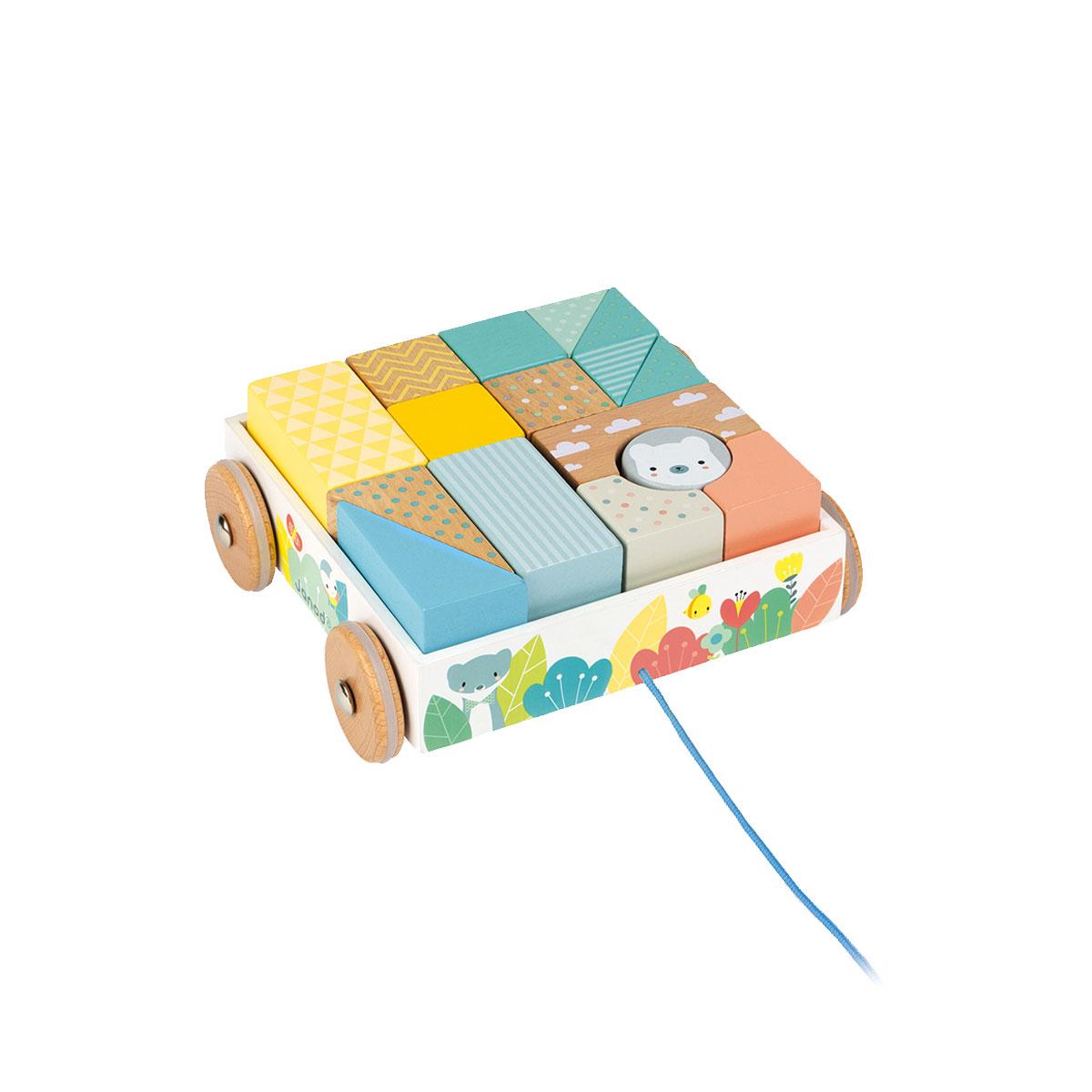 Chariot de cubes à tirer Pure