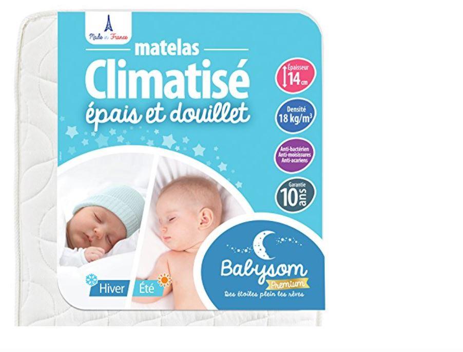 Matelas Bébé Climatisé Eté/Hiver