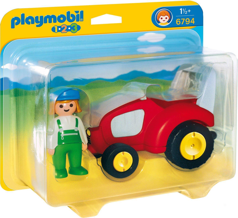 Playmobil 1.2.3 - Agricultrice avec tracteur PLAYMOBIL