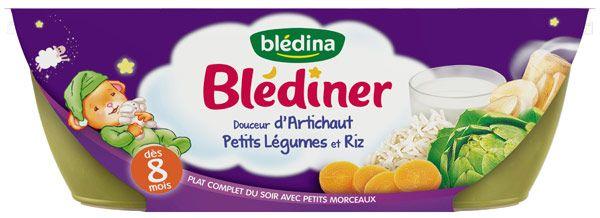 Blediner Bols, douceur d'artichaut petits légumes et riz