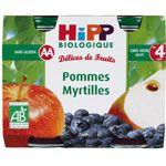 Pommes Myrtilles 190g dès 4 mois