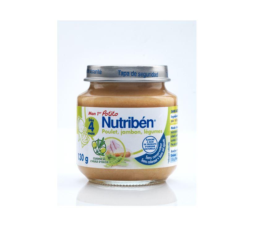 Potito poulet jambon legume 130g