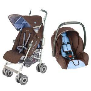 Pack duo poussette Techno XLR et siège-auto Recaro