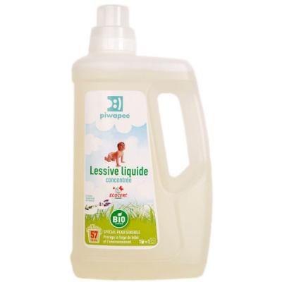 Lessive liquide certifiée ecocert PIWAPEE