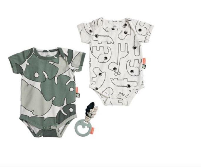 Bodies bébé avec hochet Tiny Tropics