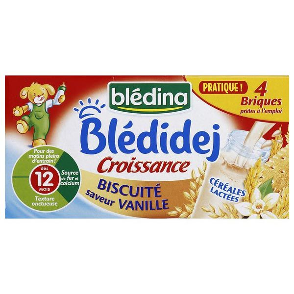 Blédidej Croissance Biscuité saveur vanille dès 12 mois