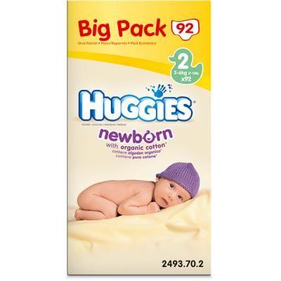 HUGGIES Newborn T2 3 6 kg VALUE BOX de 100 couches