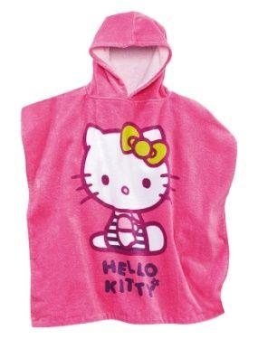 Cape de bain fille Hello Kitty a capuche forme poncho  VERTBAUDET