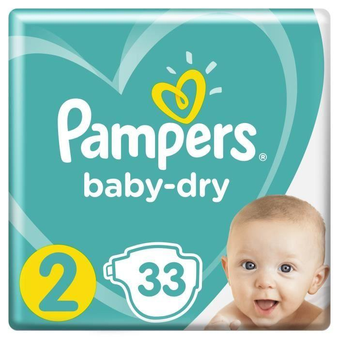 Couches BABY DRY MINI T2 (3/6 KG)