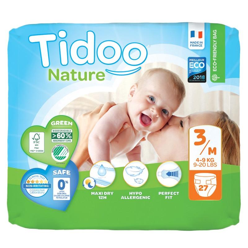 Couches écologiques T3 Single (4-9Kg) TIDOO