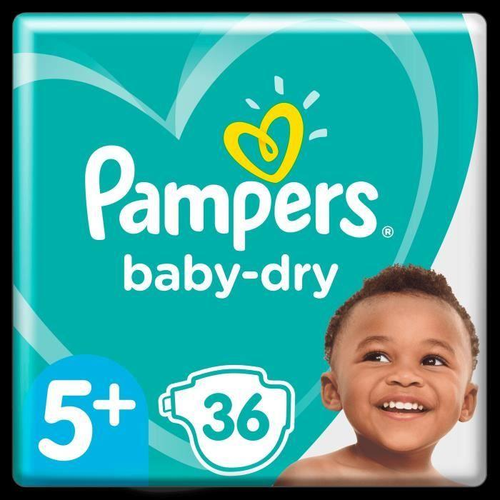 Pampers Baby Dry Couches Taille 5+  13-27 kg