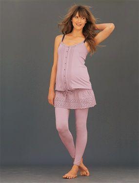 Pyjama brodé grossesse et allaitement
