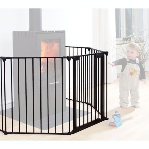 Barrière pare-feu en métal avec portillon