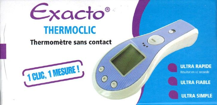 Thermomètre Auriculaire Frontal Exacto Thermoclic. -