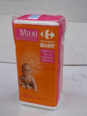 Maxi carrés de coton (x80) CARREFOUR