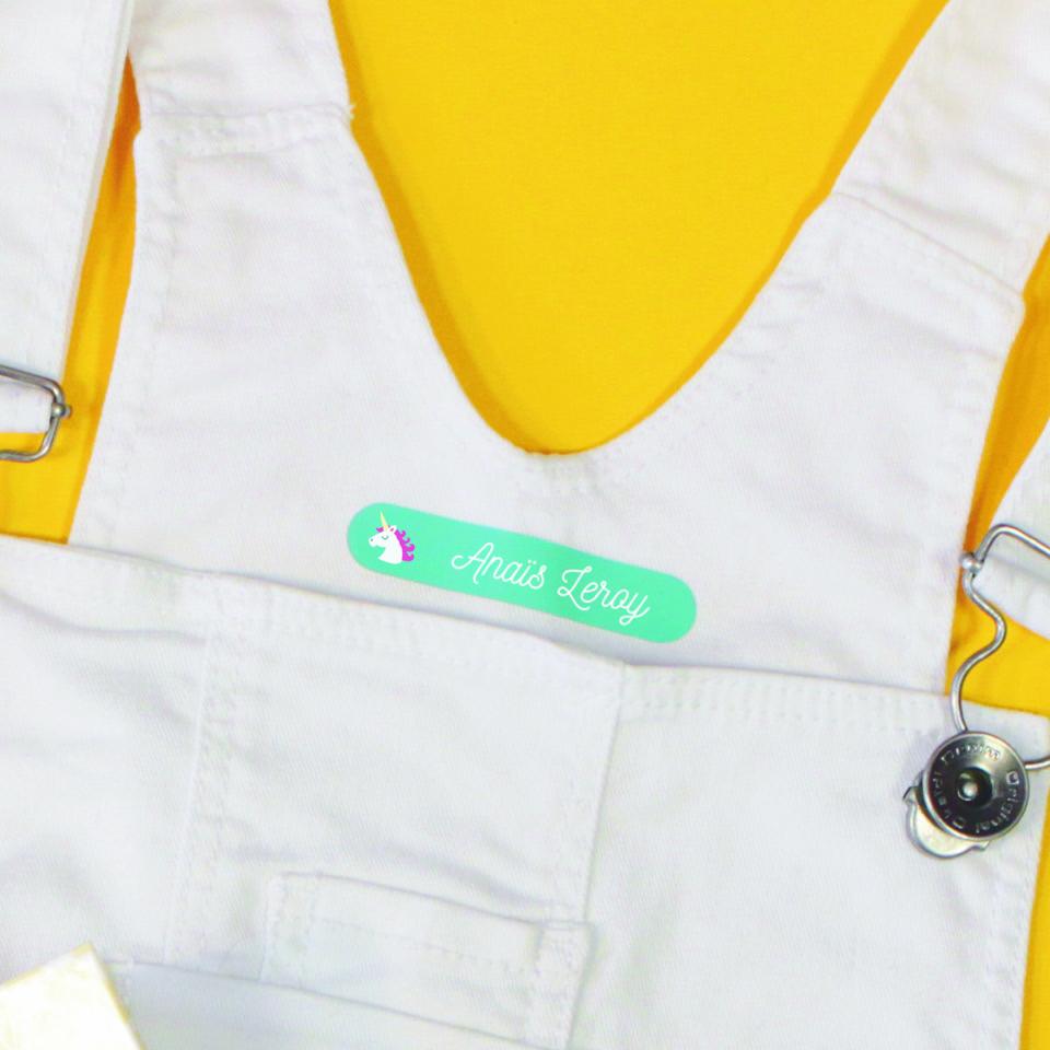 Étiquettes thermocollantesvêtements