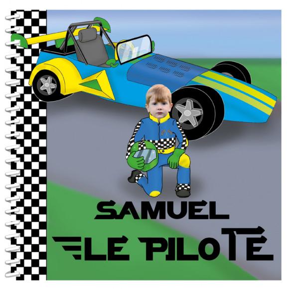 Livre personnalisé pour enfant : Pilote de course