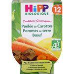 Poêlée de carottes pomme de terre boeuf 220 g dès 12 mois HIPP