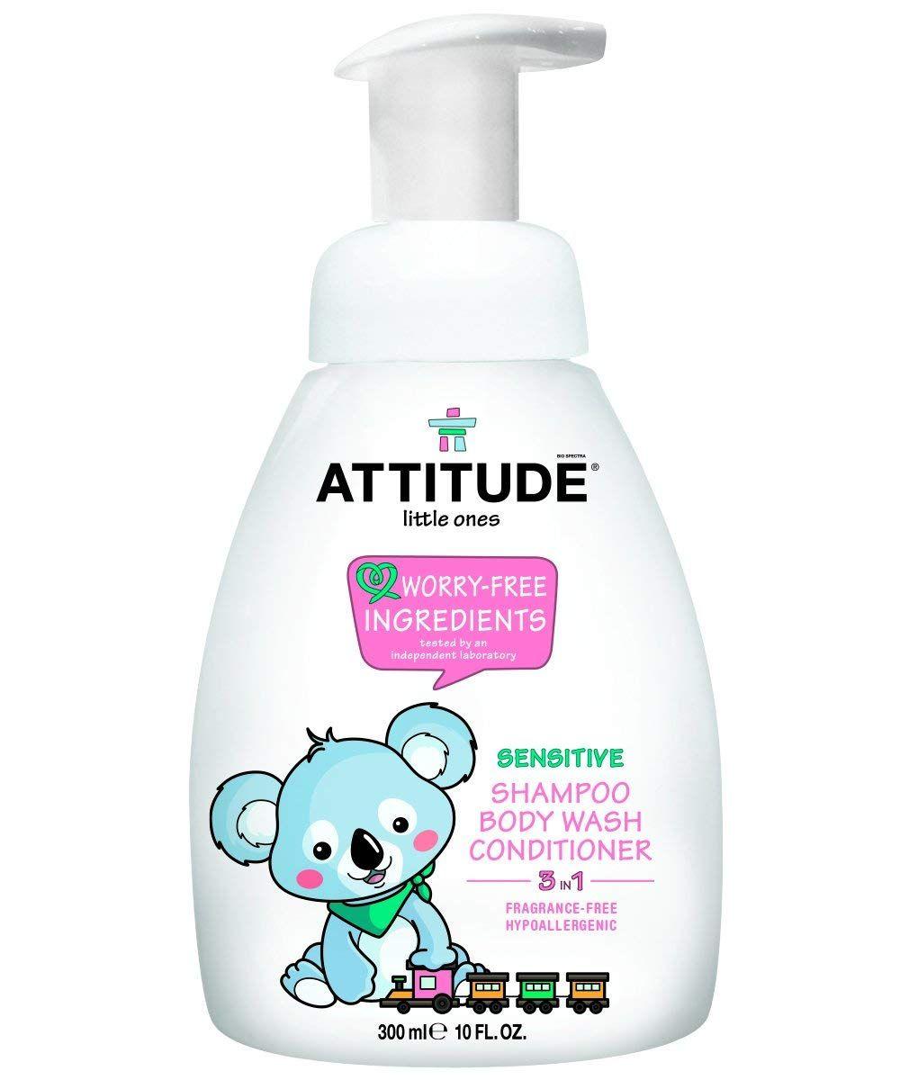 Shampooing-douche et revitalisant 3 en 1 sans parfum