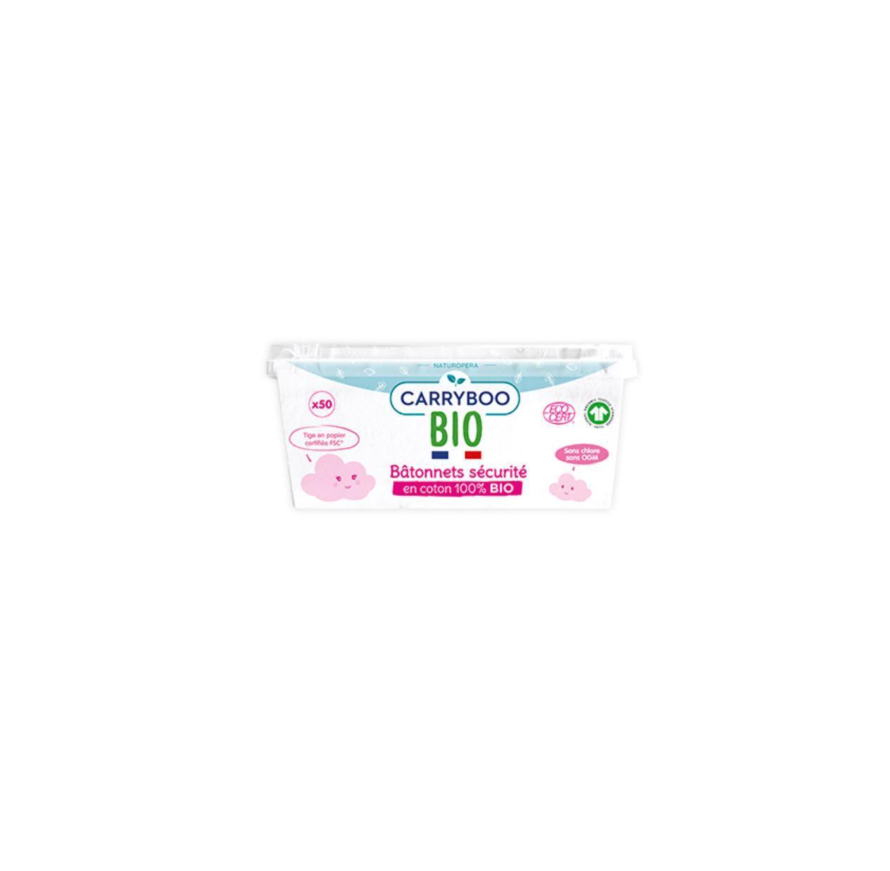 Bâtonnets Sécurité de Coton Bio x50