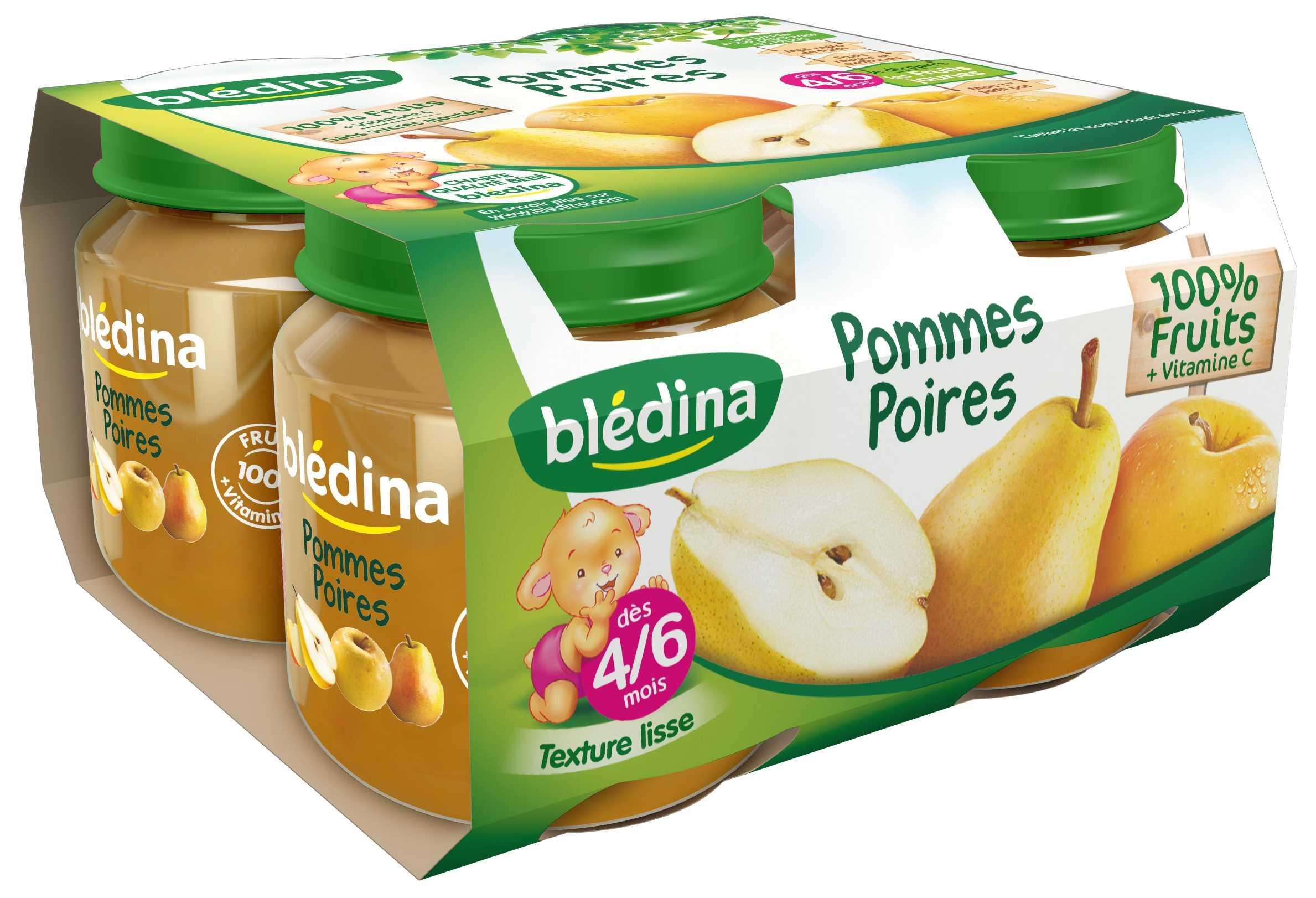 Pot Pommes Poires 4x130g BLEDINA