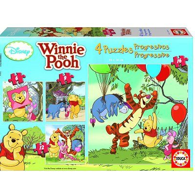 4 puzzles : Winnie l'Ourson