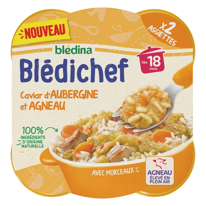 BLEDICHEF Caviar d'aubergine et agneau BLEDINA