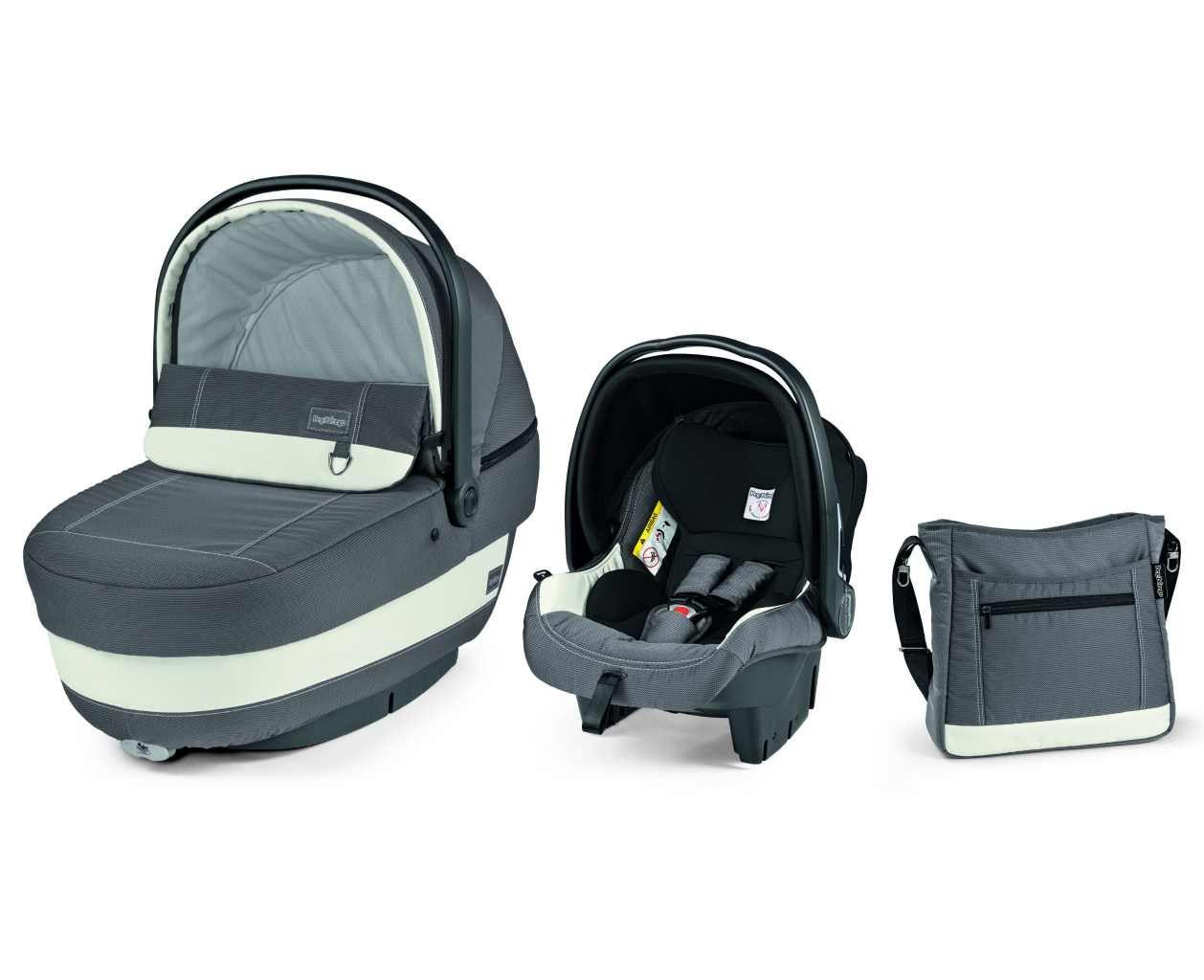 Set Modular XL : Nacelle Navetta XL, siège auto Primo Viaggio et sac à langer PEG PEREGO