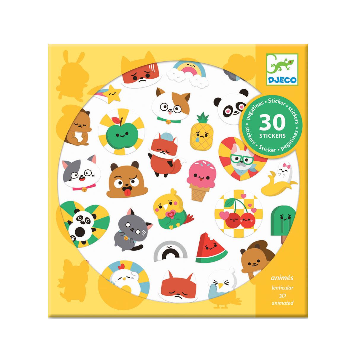 Pochette 30 stickers lenticulaires