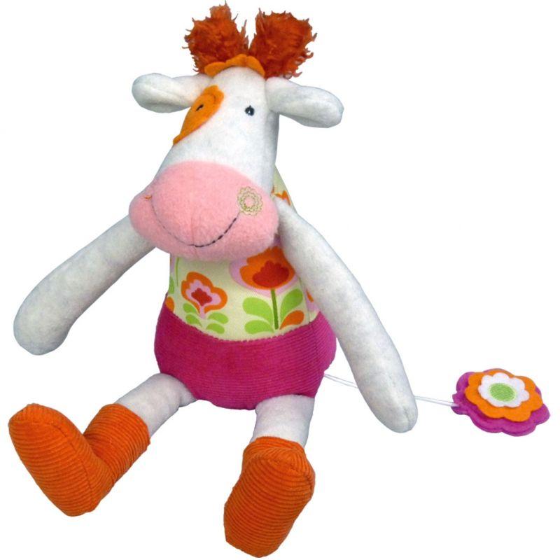 Doudou Musical Anémone la Vache Happy Farm