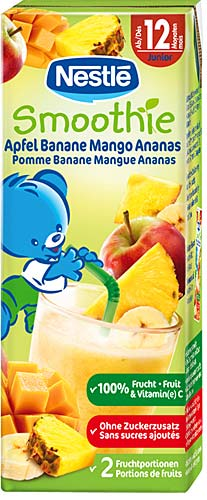 P'tits fruits : Smoothie pommes bananes mangues ananas