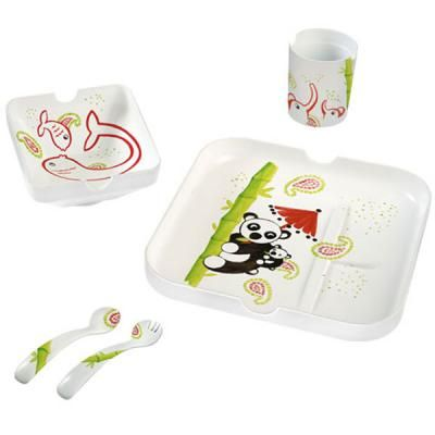 Coffret vaisselle panda