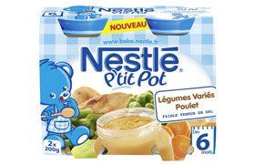 NESTLÉ - P'tit pot Légumes variés Poulet 2x200g