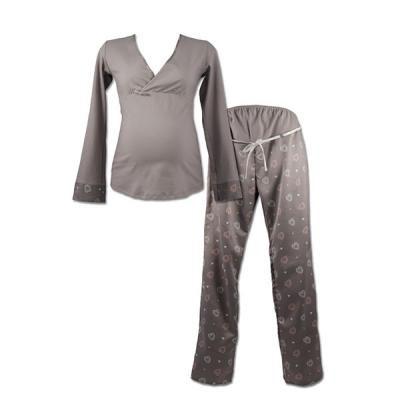 Pyjama de maternité et d'allaitement 2 pièces manon vintage CACHE COEUR