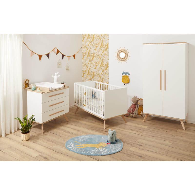 Chambre Lit 60x120 + Commode + Armoire FANON
