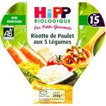 Risotto Légumes Petits pois Poulet - 1 assiette 260g - 18 mois