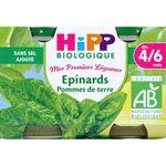 Epinards pommes de terre 125 g dès 4/6 mois