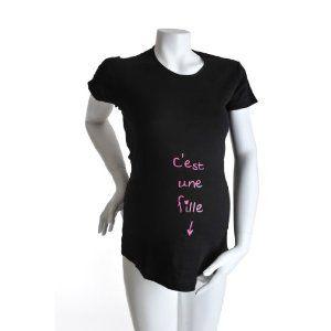 T-Shirt manches courtes 'c'est une fille'  KELMOI