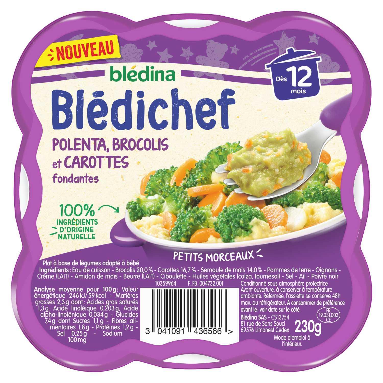 BLEDICHEF Polenta, brocolis et carottes fondantes