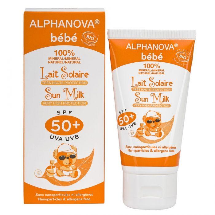 Lait solaire très haute protection SPF 50 ALPHANOVA