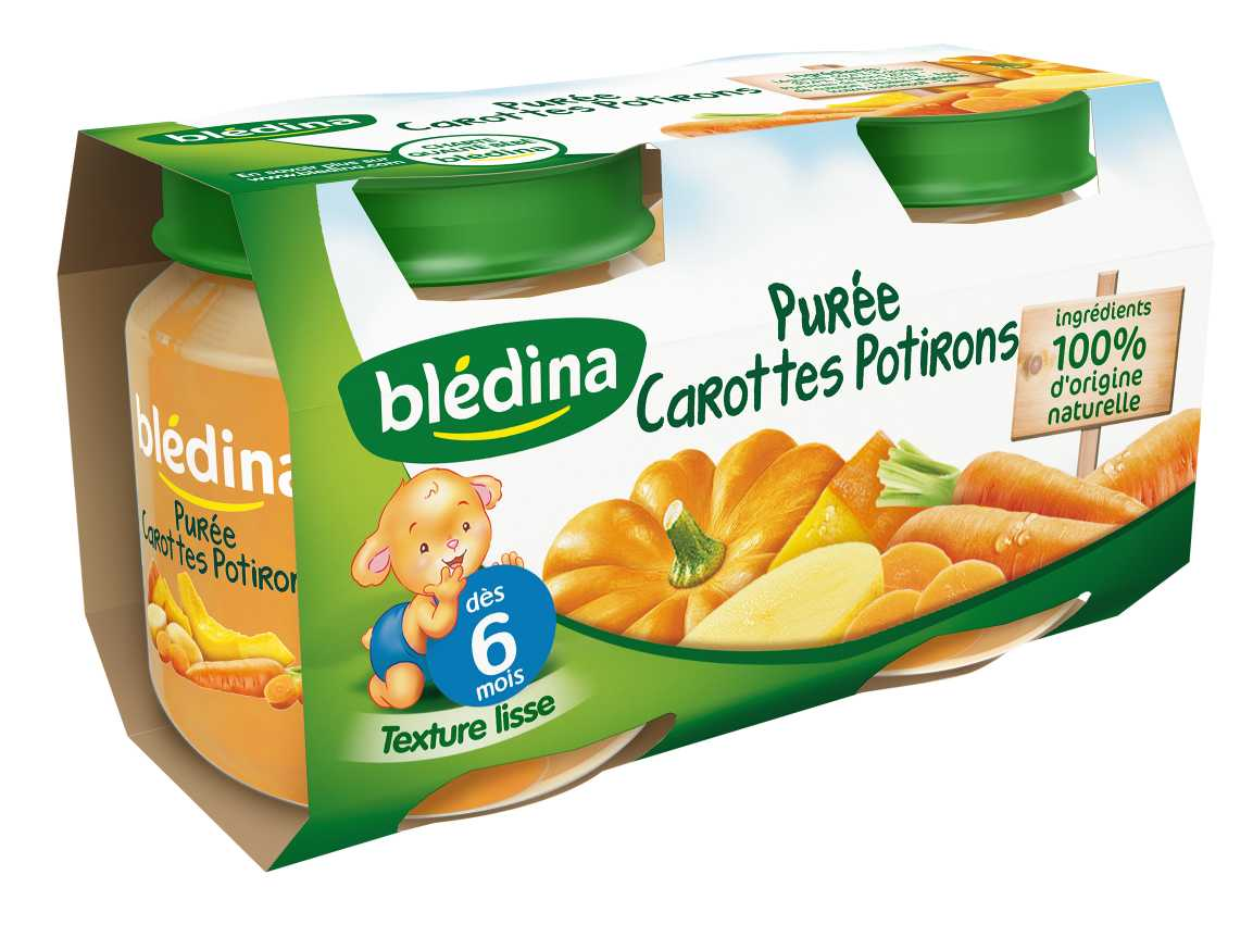Pot Purée Carottes Potirons 2x130g