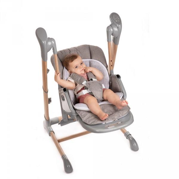 Chaise haute bébé avec balancement