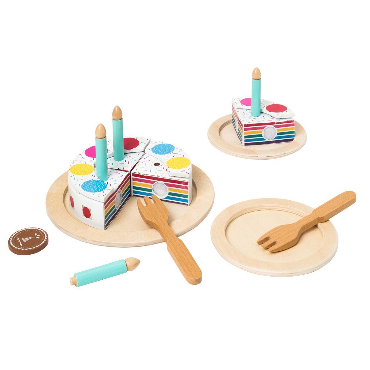 Set gâteau d'anniversaire en bois