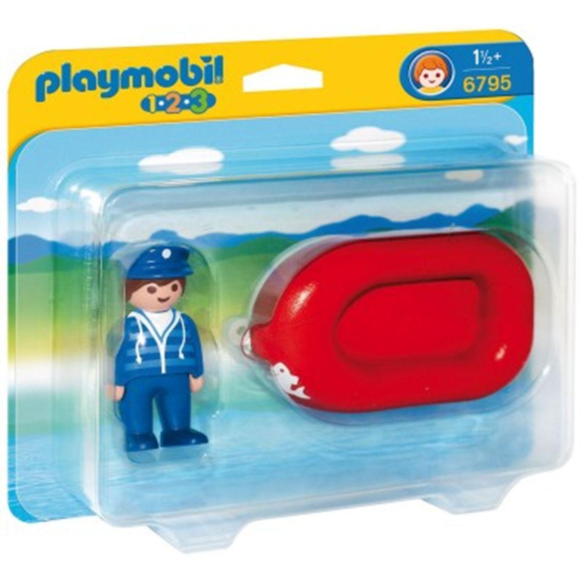 Playmobil 1.2.3 - Vacancier avec bateau