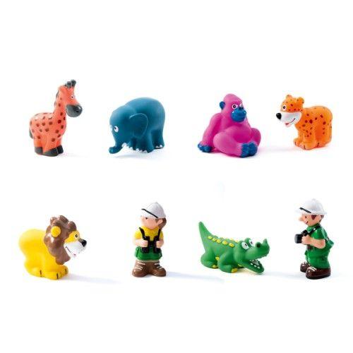 Set de 8 animaux de la savane et 2 personnages