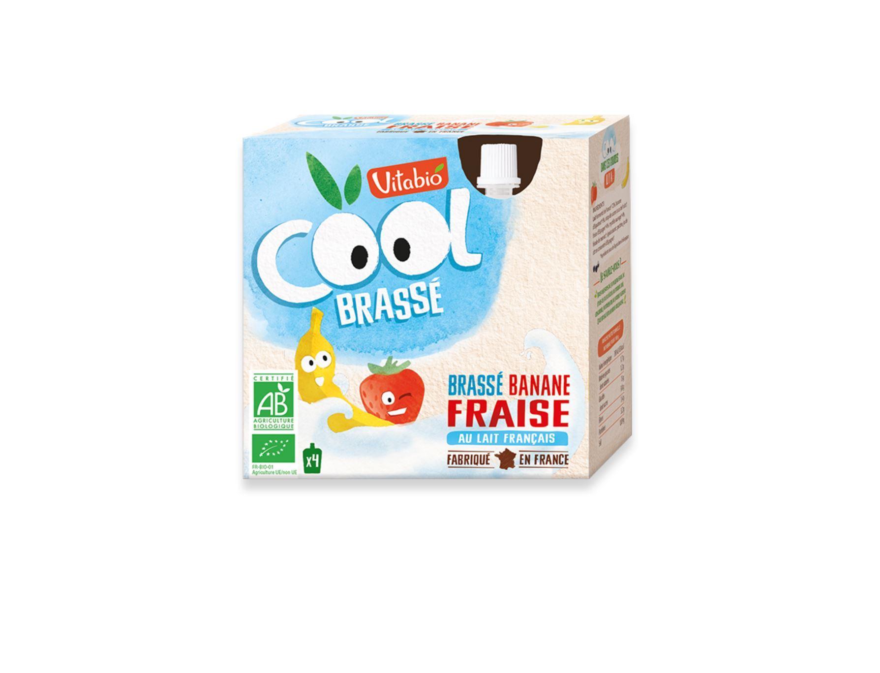 Cool Brassé - au Lait de Vache français - Banane Fraise