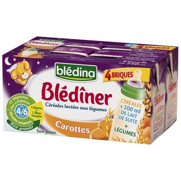 Blédîner - Briques Lait Carottes BLEDINA