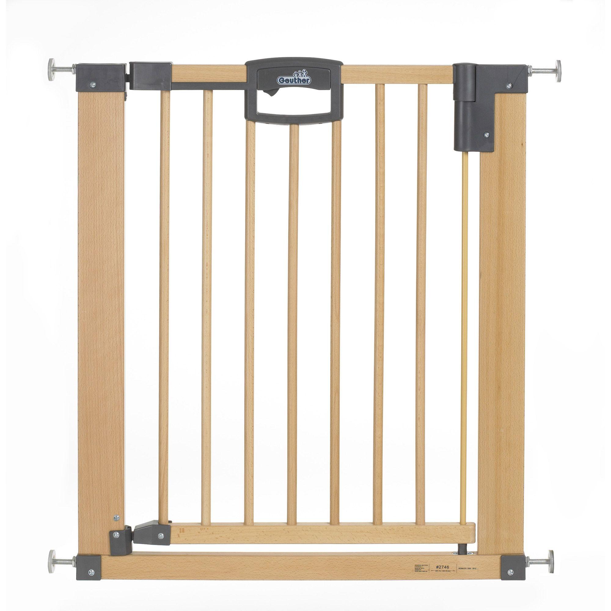 Barrière de sécurité Easy Lock Wood  87 - 96.5 CM Bois Métal GEUTHER