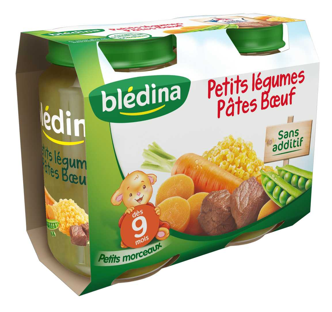 Pot Petits légumes Pâtes Bœuf 2x200g